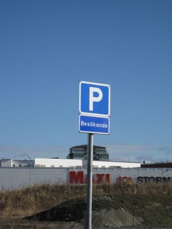Norra Lysevägens alldeles egen p-skylt
